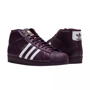 Men's Burgundy Adidas Pro Model Sneakers NWT